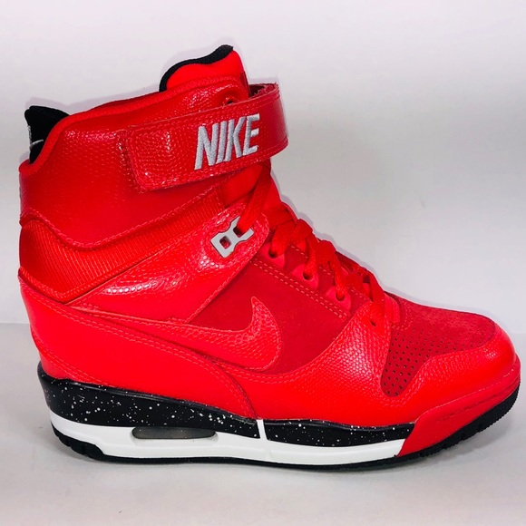 pretty nice d9026 71e41 Womens Nike Air Revolution Sky Hi Action Red Shoes